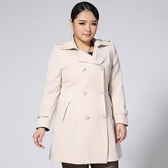 Miman - Double-Breasted Trench Coat