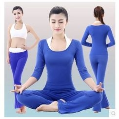 AUM - Yoga Set: Top + Pants + Bra Top