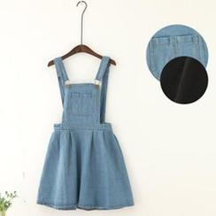 11.STREET - Washed Denim Jumper Skirt