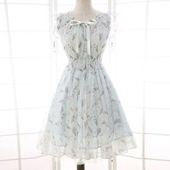 Reine - Ice Cream Print A-Line Dress