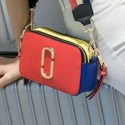 Axixi - Color-Block Cross Bag