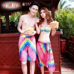 Sunset Hours - Couple Print Bikini / Swim Shorts