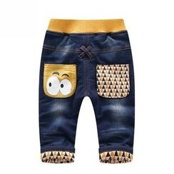 Endymion - Kids Cartoon Print Band Waist Jeans