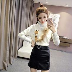 RUI - Furry Trim Sweater