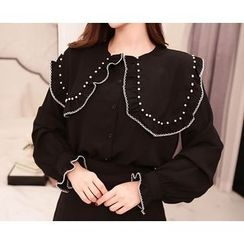 Marlangrouge - Sailor-Collar Stitched Blouse