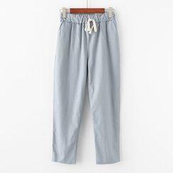 moripick - Drawstring Waist Harem Pants