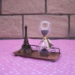 LITUP - Sand Glass & Eiffel Tower Ornament