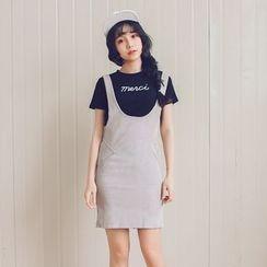 Porta - Corduroy Jumper Skirt