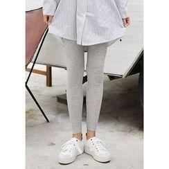 GOROKE - Ribbed Cotton Leggings