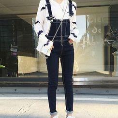 Ashlee - 窄身背带牛仔裤