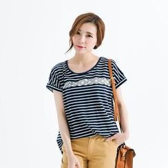 CatWorld - Short-Sleeve Striped T-Shirt