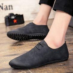HANO - Plain Faux-Leather Oxfords