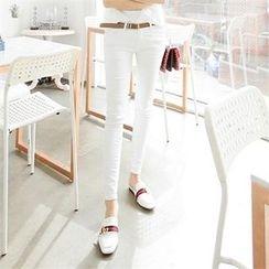 ZIZIBEZIRONG - Plain Skinny Pants