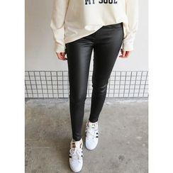 J-ANN - Brushed Fleece Skinny Pants