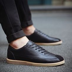 HANO - Faux Leather Oxfords