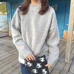 MISS YOYO - Plain Mock Neck Sweater