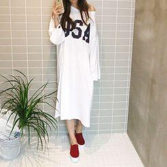 NANING9 - Cotton T-Shirt Dress