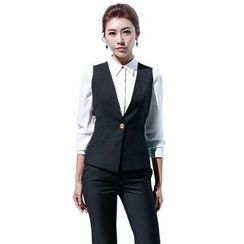 Aision - Blazer / Single-Button Vest / Blouse / Pants