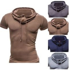 Sheck - Short-Sleeve Hooded Top