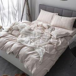 Miss Jane - Bedding Set: Check Duvet Cover + Bet Sheet + Pillowcase