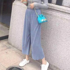 Jolly Club - Cropped Wide-Leg Pants