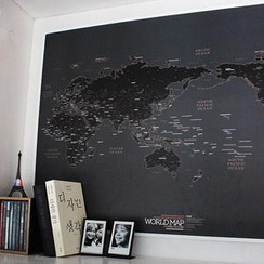 BABOSARANG - 世界地圖 黑版