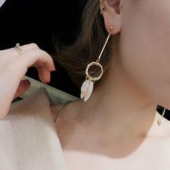 Jael - Non-matching Scallop Drop Earrings / Ear Cuffs