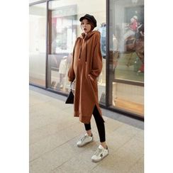 Momnuri - Maternity Hooded Long Pullover Dress