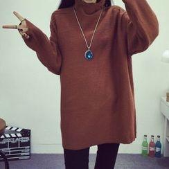 Fashion Street - High-Neck Knit Tunic
