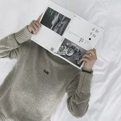 除一 - 字母领毛衣