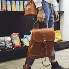 Tasche - Set: Faux Leather Backpack + Crossbody Bag