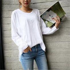 smusal - Raglan-Sleeve Cotton Blend Top