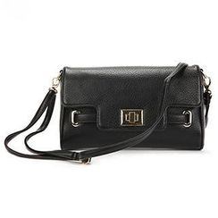 O.SA - Faux-Leather Twist-Lock Cross Bag
