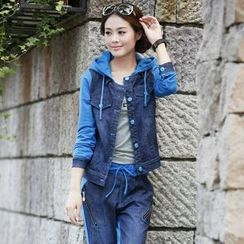 Tabla - Set: Two-Tone Denim Jacket + Pants