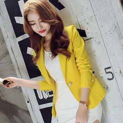 Bornite - Plain Single Button Blazer
