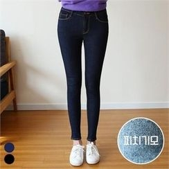 PINKSISLY - Brushed Fleece Lined Skinny Jeans