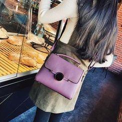 Bag Affair - Faux Leather Flap Shoulder Bag