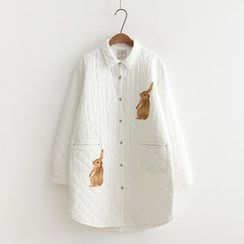 Aigan - Printed Padded Long Shirt