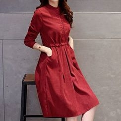 Romantica - Long-Sleeve Plain Dress