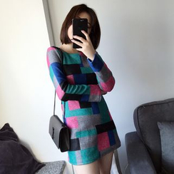Whitney's Shop - Color Block Long-Sleeve Tunic