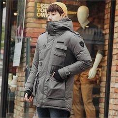 STYLEMAN - Padded Zip-Up Hoodie Jacket
