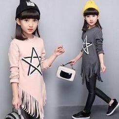 Pegasus - Kids Fringed Star Long-Sleeve Top