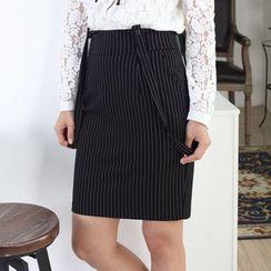 Joe & Dee - Striped Jumper Skirt