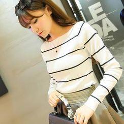 Qimi - Striped Knit Top