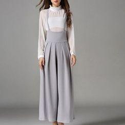 Isadora - 高腰宽腿背带裤