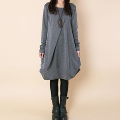Supernova - Long-Sleeve Pullover A-Line Dress