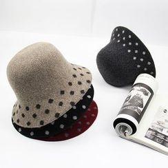 BADA - Dotted Wool Bowler Hat