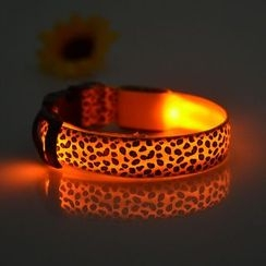 Hotaru - Leopard Print LED Pet Collar