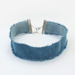Bling Thing - Denim Choker