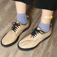 MITU - 純色薄款短襪